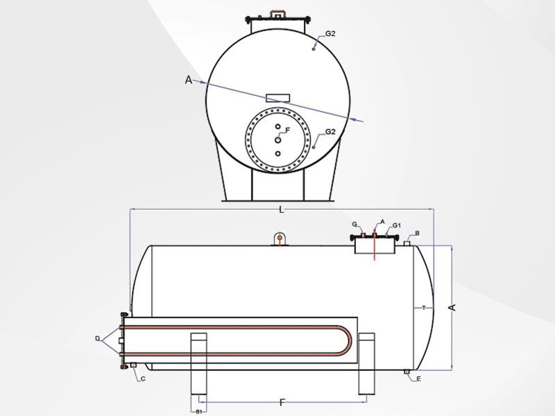 Akaryakıt Tankı teknik çizim